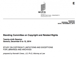 STUDY ON COPYRIGHT LIMITATIONS AND EXCEPTIONS FOR LIBRARIES AND ARCHIVES